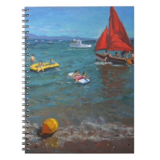 Yellow buoy and red sails Abersoch 2012 Notebook