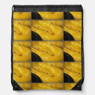 Yellow Burmese Python Rucksacks