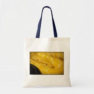 Yellow Burmese Python Tote Bags