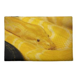 Yellow Burmese Python Travel Accessory Bags