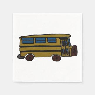 yellow bus paper napkins
