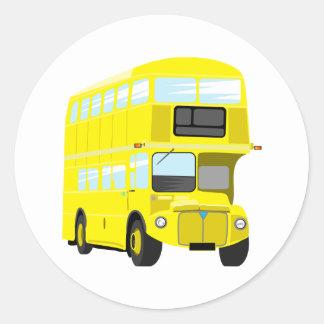Yellow Bus Round Sticker