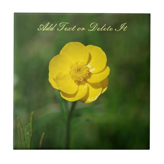 Yellow Buttercup Small Square Tile