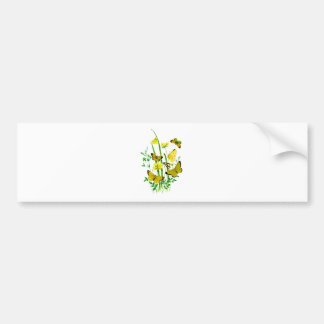 Yellow Butterflies and Yellow Wildflowers Bumper Stickers