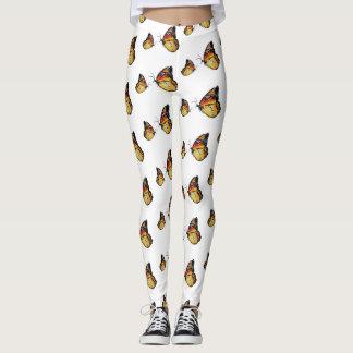Yellow Butterflies Art Custom Leggings