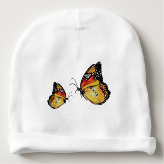 Yellow butterflies baby hat baby beanie