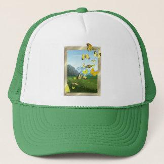 Yellow butterflies trucker hat