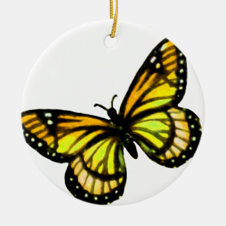 Yellow Butterfly Christmas Ornament