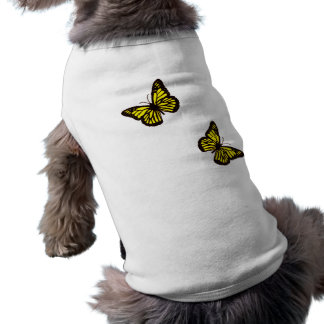 Yellow Butterfly Dog Shirt