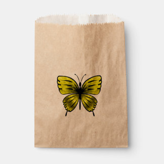 yellow butterfly favour bags