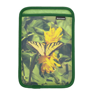 Yellow Butterfly & Flowers iPad Mini Sleeve