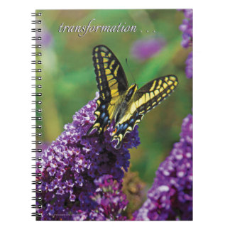Yellow Butterfly I - Spiral Notebook