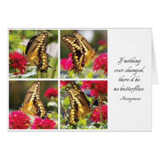 Yellow Butterfly III - Note Card