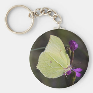 yellow butterfly key ring