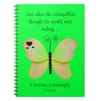 Yellow Butterfly Notebook