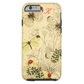 Yellow Butterfly Tough iPhone 6 Case