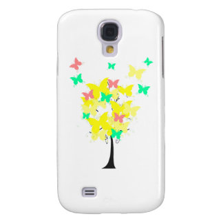 Yellow Butterfly Tree Galaxy S4 Cases