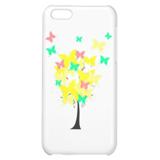 Yellow Butterfly Tree iPhone 5C Covers