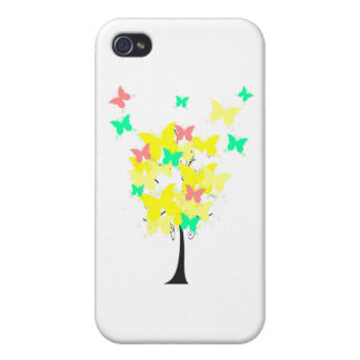 Yellow Butterfly Tree iPhone 4 Case