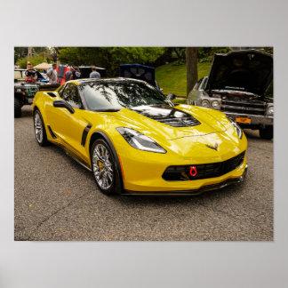 Yellow C7 z07 Package Chevrolet Corvette Poster