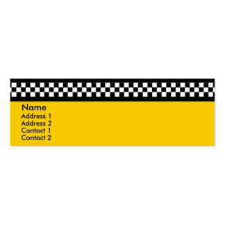 Yellow Cab Business Card #2