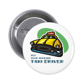 Yellow cab cartoon: Not your average taxi driver 6 Cm Round Badge