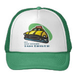 Yellow cab cartoon: Not your average taxi driver Cap
