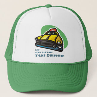 Yellow cab cartoon: Not your average taxi driver Trucker Hat