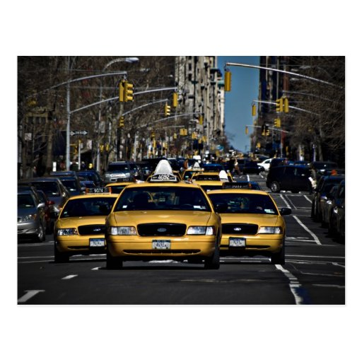 Yellow Cab Charge Post Card