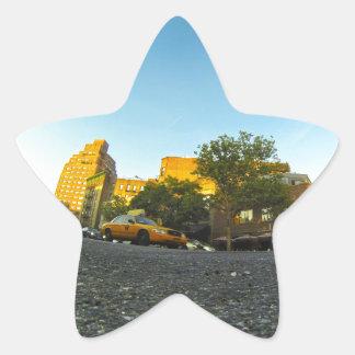 Yellow Cab in New York Star Sticker