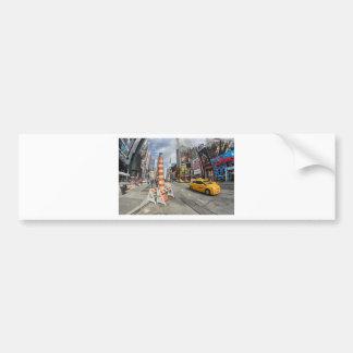 Yellow cab in NYC Bumper Sticker