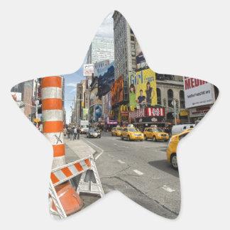 Yellow cab in NYC Star Sticker