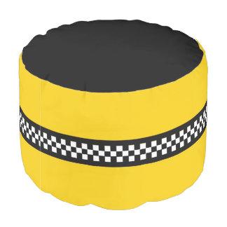 Yellow Cab Round Pouf