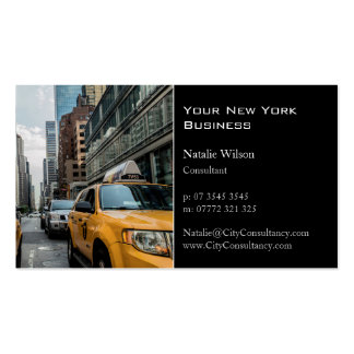 Yellow Cab / Taxi, New York Photo - Business Card