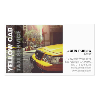 Yellow Cab Taxi Service Bold Modern Pack Of Standard Business Cards