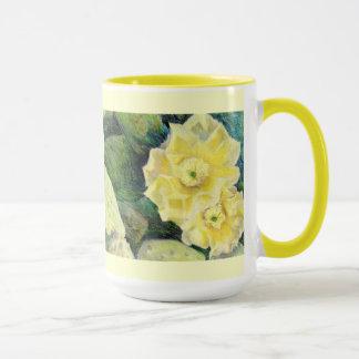 Yellow Cactus Blossom Flower Gift Mug