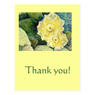 Yellow Cactus Blossom Flower Gift Postcard