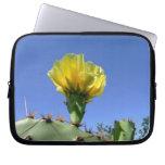 Yellow cactus blossom laptop sleeve