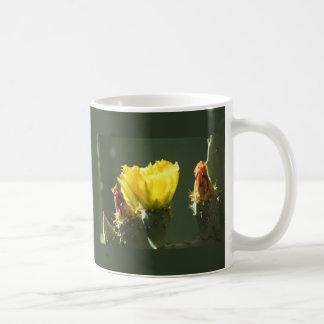 YELLOW CACTUS BLOSSOM COFFEE MUGS
