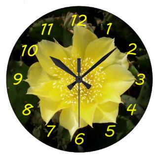 Yellow Cactus Flower Clocks