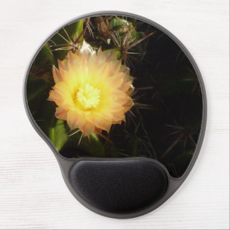 Yellow cactus flower gel mouse pad