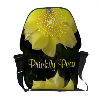Yellow Cactus Flower Courier Bags