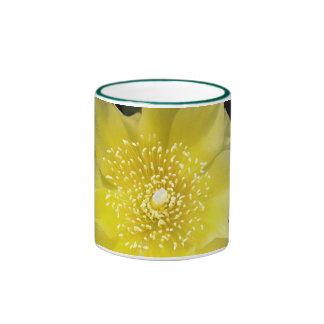 Yellow Cactus Flower Coffee Mugs