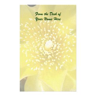 Yellow Cactus Flower Customised Stationery