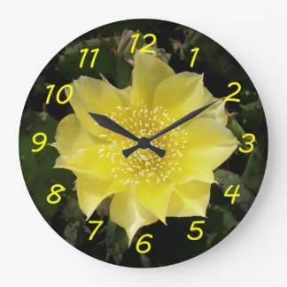 Yellow Cactus Prickly Pear Flower Clocks