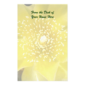 Yellow Cactus Prickly Pear Flower Customised Stationery