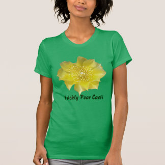 Yellow Cactus Prickly Pear Flower T Shirts