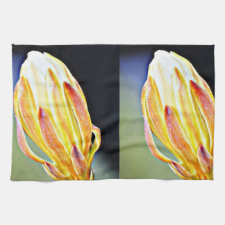 Yellow Cactus Rose Kitchen Towel