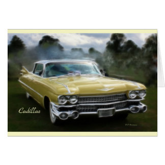Yellow Cadillac Card