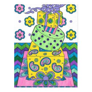Yellow Cake Image Postcard